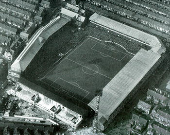 Goodison Park aerial shot, 1966, from the Park End