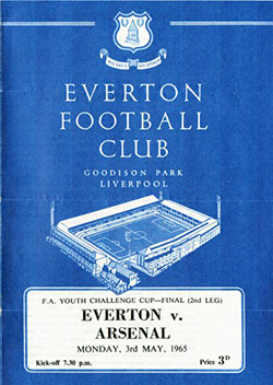 1965 Youth Cup Final programme