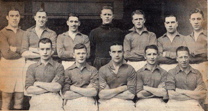 Everton 1936-37 team featuring Elie Hurel