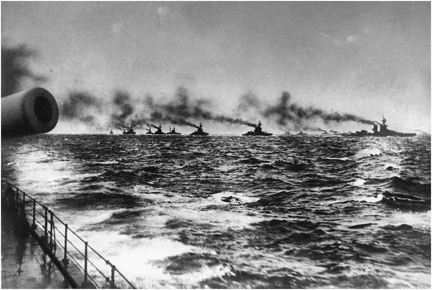 The Grand Fleet on the way to Jutland 31st May 1916