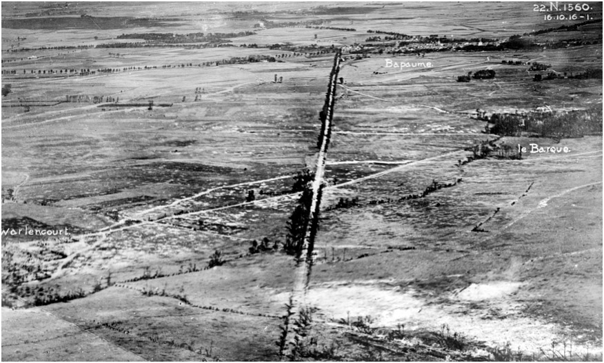 Aerial photograph from 16th October 1916