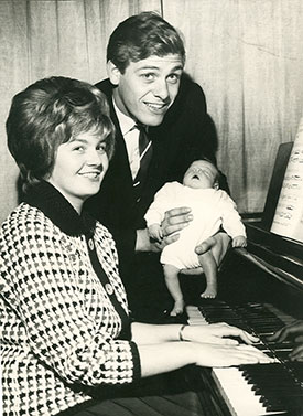 The Wests with baby Stephen in 1963
