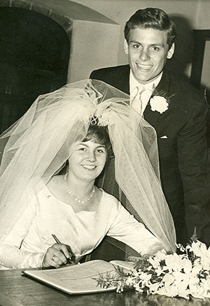 Gordon and Ann West on their wedding day