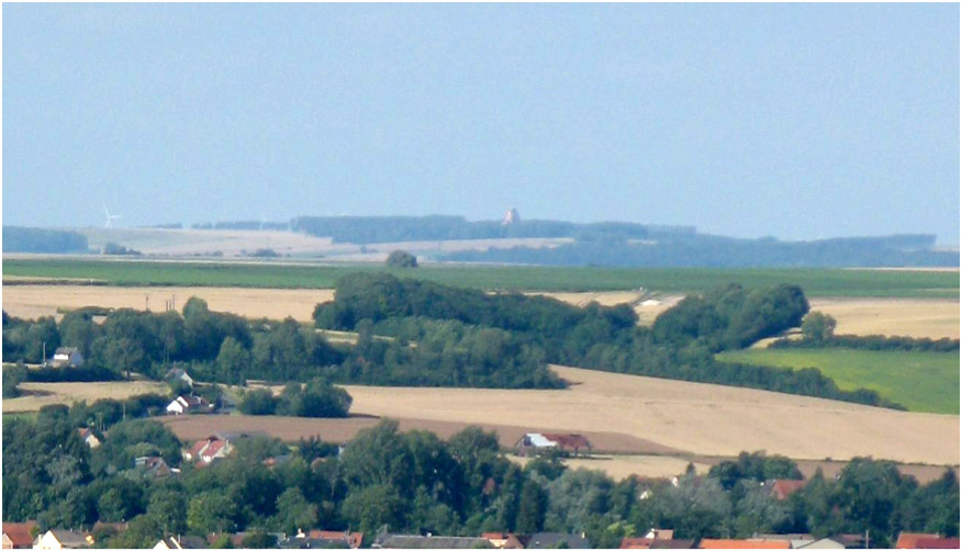The Thiepval Memorial viewed from the Australian War Memorial at Villers-Bretonneux