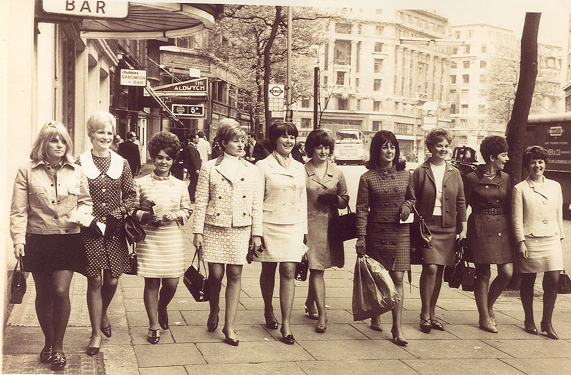 The Everton wives outside the Waldorf before the 1968 FA Cup final