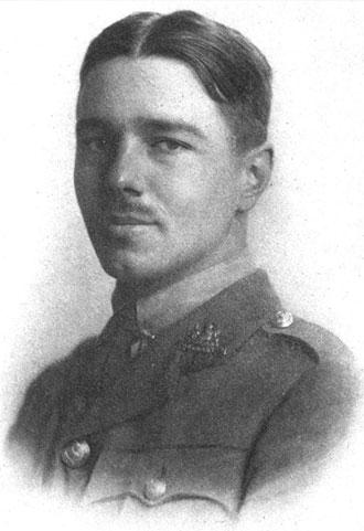 Wilfred Owen from the frontpiece of Poems published in 1920 (Wikipedia)