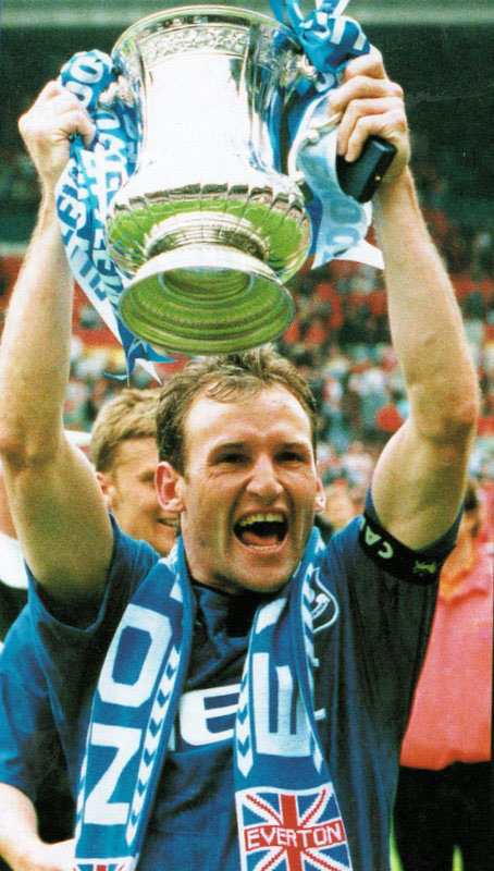 Watson with the FA Cup in 1995